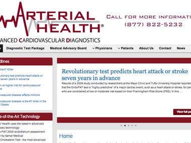 ArterialHealth.net - Patient Booking System