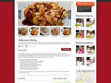 Red social de recetas de cocina