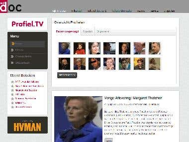 Profiel.tv - biography website