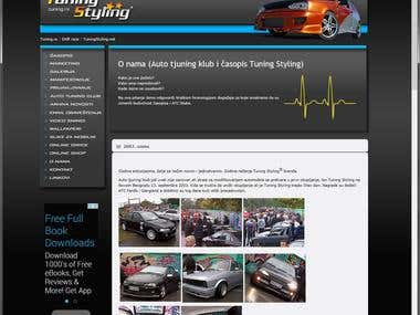 Car tuning & styling website