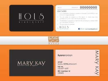 Membership Card & Business Card Design Samples