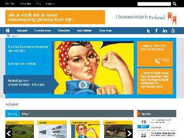 Very custom joomla website