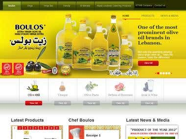 Boulos Oil website