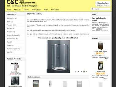 On-line store for local plumbing supplier