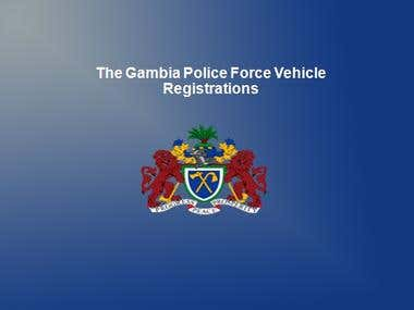 VRVT (Gambia Police Vehicle Registration System)