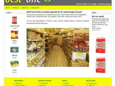 On-line store for the local food shop