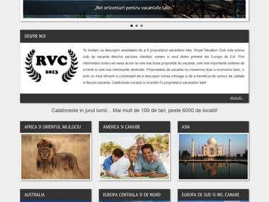 Custom WordPress template for Royal Vacation Club