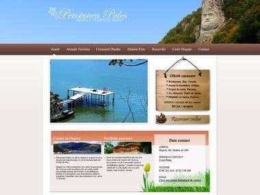 Custom WordPress template for Pensiunea Palos from Orsova