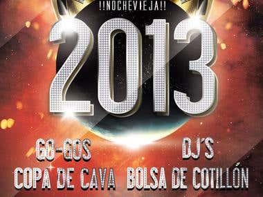 Flyer Nochevieja 2013