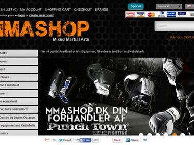 OnSite SEO for MMAShop.dk