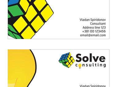 Solve consulting name card
