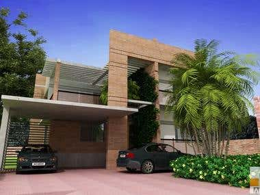 Duplex building design named SHANTI NIKETON