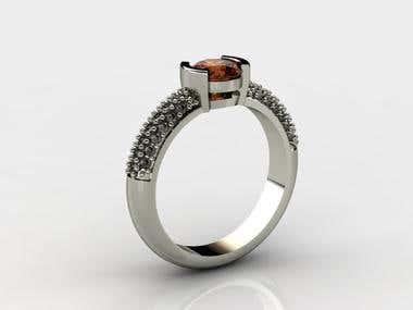Half bezel ring