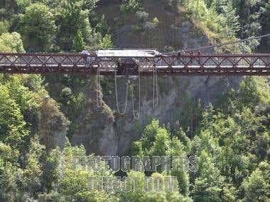 Suspension bridge of Bhotekoshi river