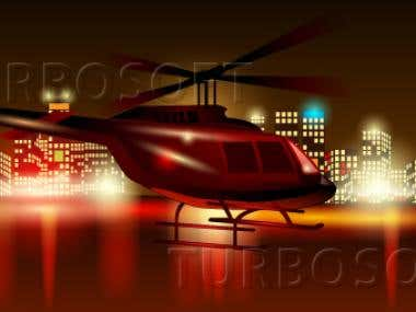 Vector Illustration of Helicopter