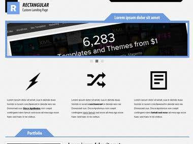 Custom Template for ThemeForest