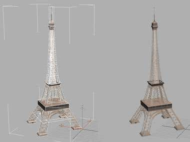 3D Eiffel Tower in true Scale
