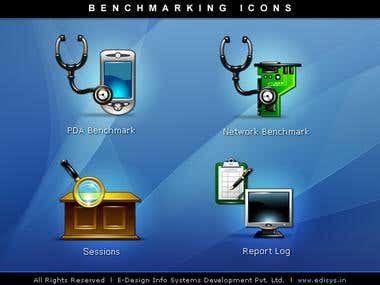 Bench marking Icons