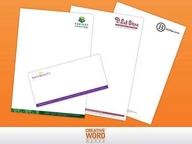 Letterheads & Envelope Designs