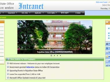 Intranet Of Oil company