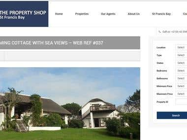 WP Plugin - The Property Shop