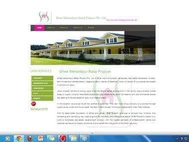 Builder's static website