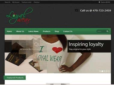 LoyalWear Fashion Wordpress Design