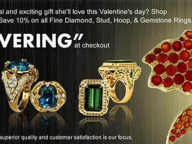 Web banner for BlountJewels.com