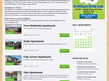 Tisno Accommodation website design and coding