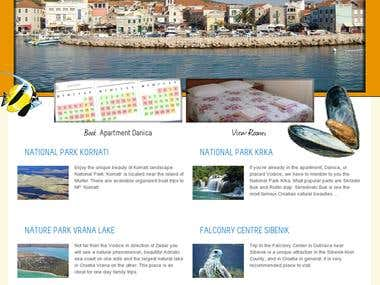 Vodice Apartments website desing and coding