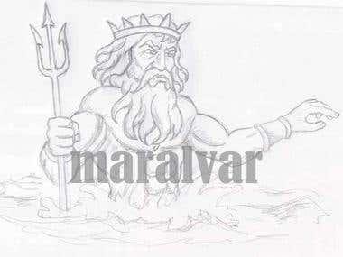 Neptune Sketch