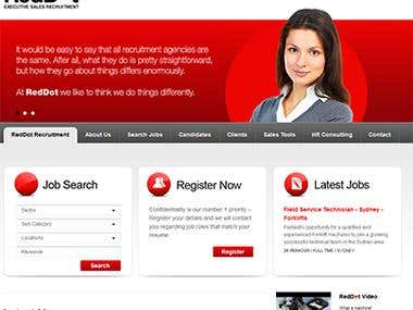 Red Dot Recruitment Just one of the many projects