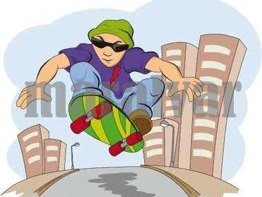 Skater cartoon
