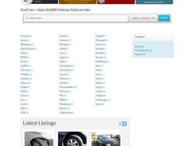 Car listing website