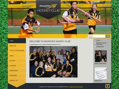 Mounties Hockey Club Website Design