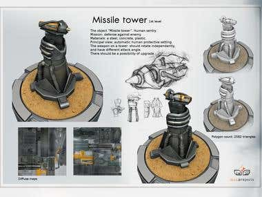 "Missile Tower form ""Tower Defense"""