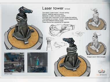 "Laser Tower form ""Tower Defense"""