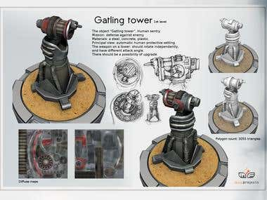 "Gatling Tower from ""Tower Defense"""