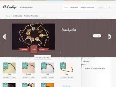 Wordpress + Web setup + Web design + eCommerce