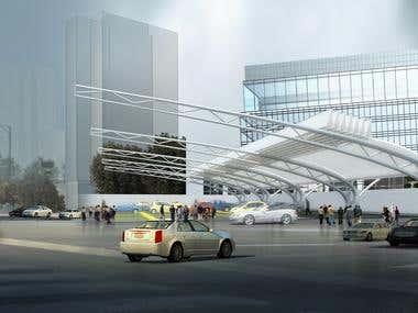 Do some 3D Modelling-car parking