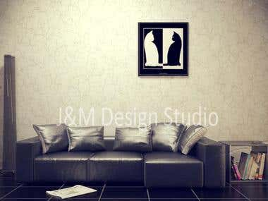 Photoshoped interior design