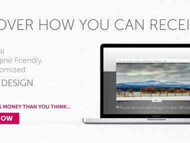 Banner Design for a website designing company.