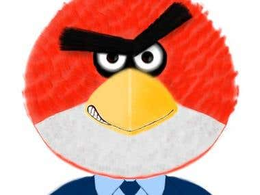 Illustration Samples - Angry Business Bird