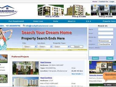ONLINE REAL ESTATE WEBSITTE