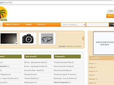 Classified site in php