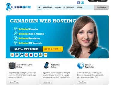 Wordpress (www.bluebirdhosting.ca)