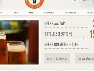 Brewhouse Demo - HTML5 CSS3