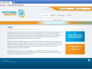 Infotonen Register site (Dutch)