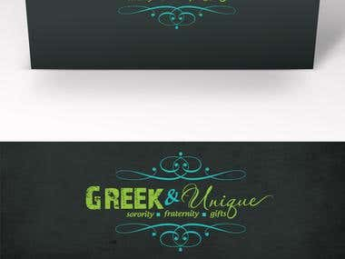 Logo design for Greek and Unique!