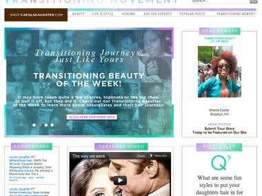 Web design and web development for TransitioningMovement.com